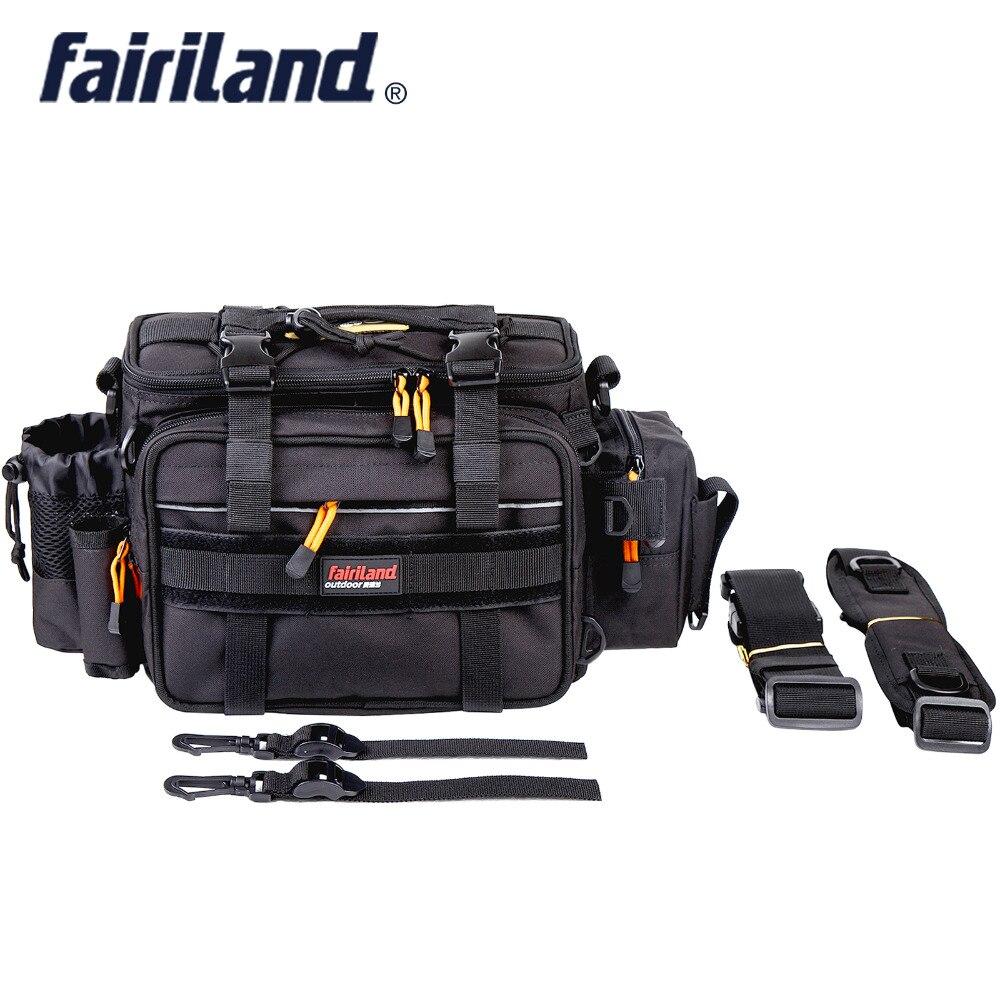 Fairiland Grand-taille Viril 3-Couleur Poissons Sac Multifonctionnel Épaule Taille matériel de pêche appât de leurre Bobine sac pour matériel de pêche