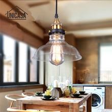 Modern Glass Shade Pendant Lights Vintage Lighting Fixtures Kitchen Island Office Shop Bar Hotel Industrial Pendant