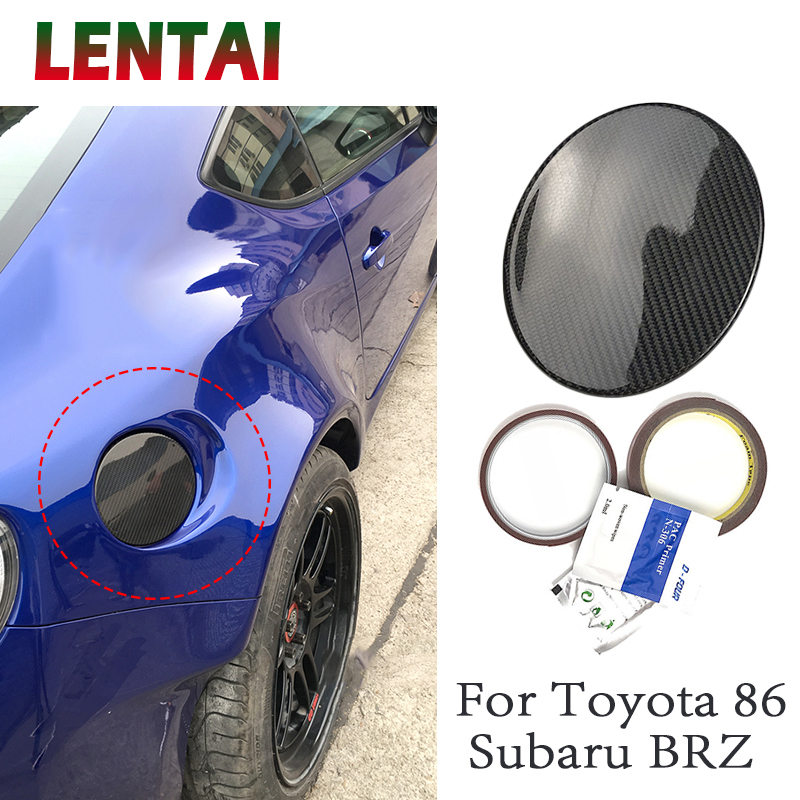 LENTAI Car Fuel Tank Cap Auto Accessories Styling Carbon Fiber Stickers Protective Cover Decoration For Subaru BRZ Toyota 86