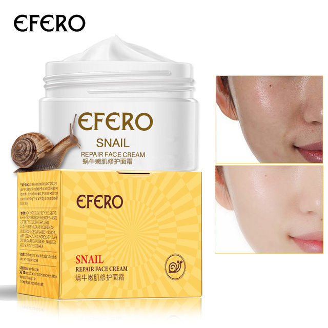 EFERO Snail Cream Day Cream Whitening Face Cream Repair Acne Treatment Moisturizing Anti Wrinkles Anti Aging Brighten Skin Care