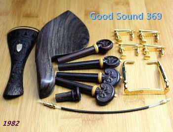 3  sets of beautifully carved high quality rosewood violin accessories 4/4