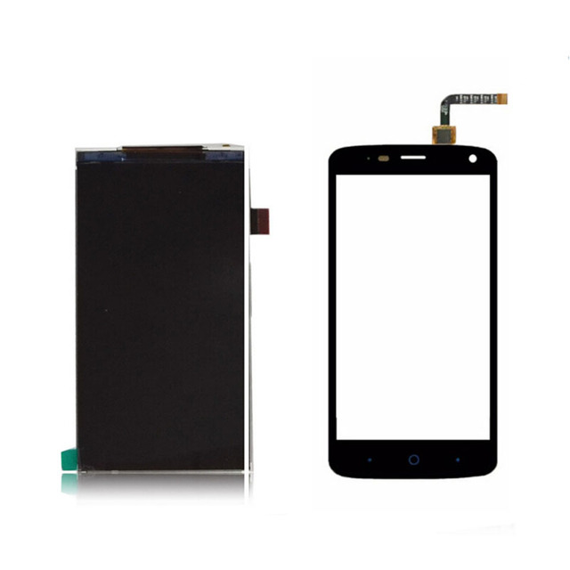 Para zte blade l2 plus l370 preto exibição sensor de lcd painel digitador + substituição da tela de toque do smartphone