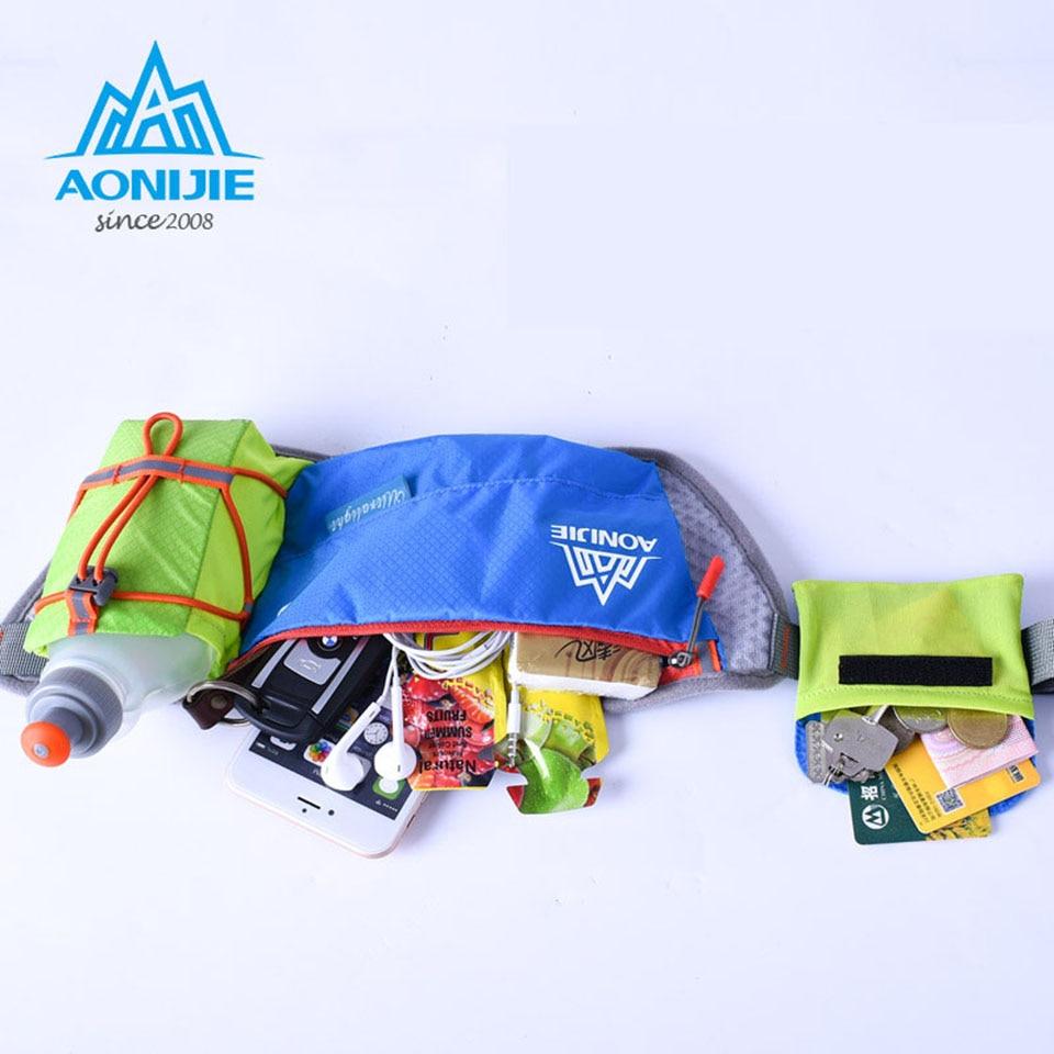 Aonijie Women Men Running Waist Pack Lightweight Outdoor Sports Bag Blue Green Racing Hiking Gym Fitness Hydration Belt Water Bottle Hip In Bags From