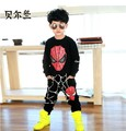 2017 New autumn clothes boy sports set cartoon pattern spiderman clothing suits children cotton materail