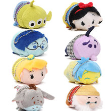 58styles Mini 3.5inch Tsum Tsum Plush Toy Doll Cute Screen Cleaner Plush Toy Juguetes Snow White Mermaid Duck Cinderella(China)