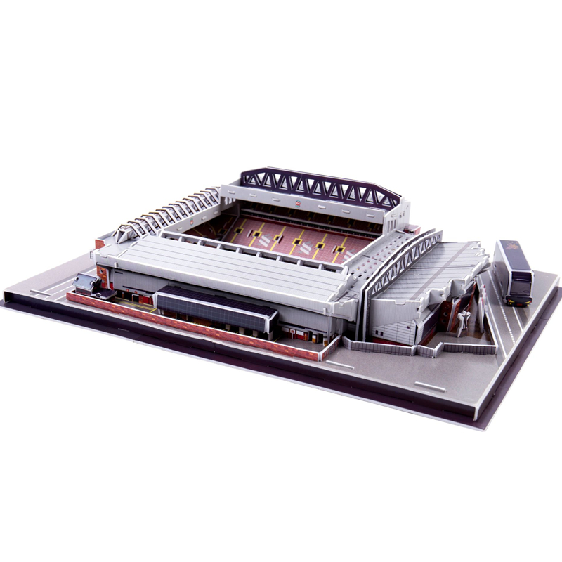 Classic Jigsaw Models England Anfield Club RU Competition Football Game Stadiums DIY Brick Toys Scale Sets Paper