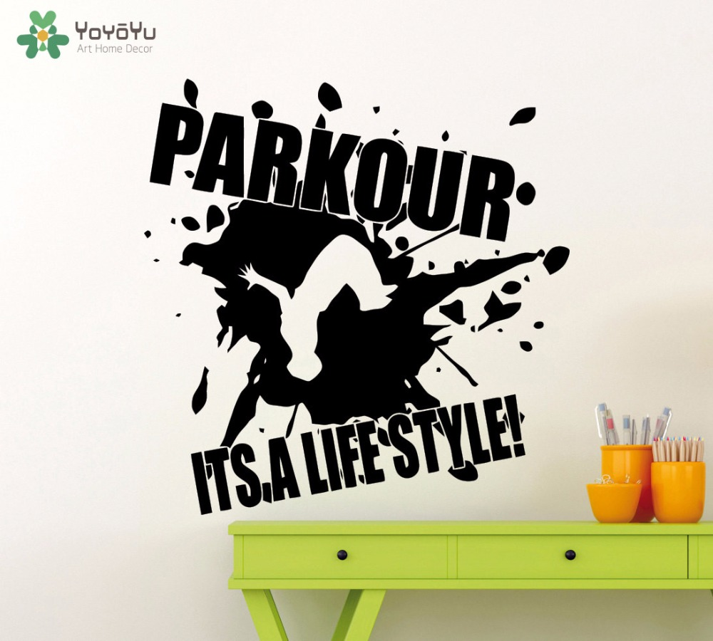 YOYOYU Street Style Wall Decal Quotes Parkour Its A Lifestyle Vinyl ...