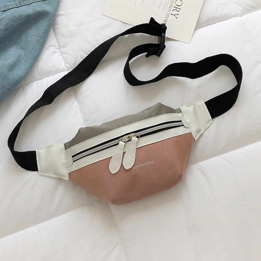 Women's fanny pack waist bag luxury handbags women bags designer Crossbody bags Casual Canvas Letter Chest Bags bolsa feminina