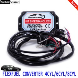 E85 4cyl 6cyl 8cyl Auto conversion kit Flex combustible etanol alternativa combustible con arranque en frío Asst. Conectores disponibles para EV1, EV6