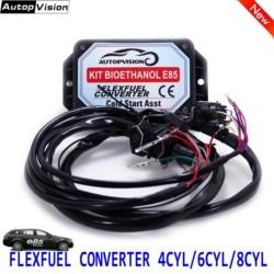 E85 4cyl 6cyl 8cyl | kit de conversion automatique, carburant Flex éthanol carburant alternatif avec démarrage à froid, connecteurs disponibles pour EV1, EV6