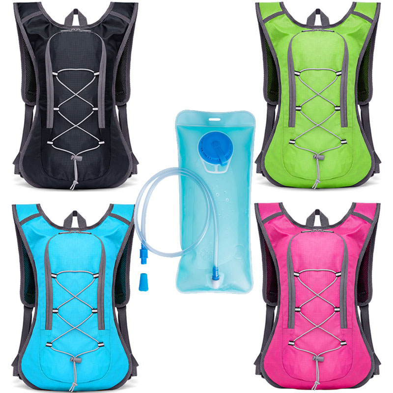 2L Water Bag Hydration Backpack Camping Hiking Riding Cycling Outdoor Sports Bag Water Bladder Container