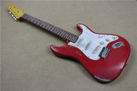 Custom Shop st relic guitarra envejecido hecha a mano retro stratcast guitarra eléctrica classic de Apple rojo guitarra real pics versión Exclusiva