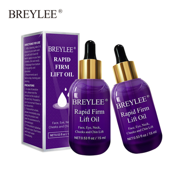 BREYLEE 2PCS Essential Oils Rapid Firming Lifting Face Essence Oil Massage Facial Skin Care Anti Aging