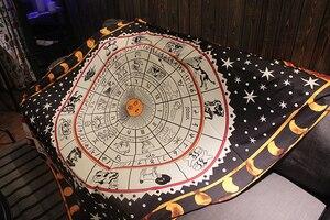 Image 2 - Tarot tischdecke aspekt astrologie Konstellation bord spiel matte, sofa abdeckung teppich OtsugeUranainandesu neuheit dekoration decke