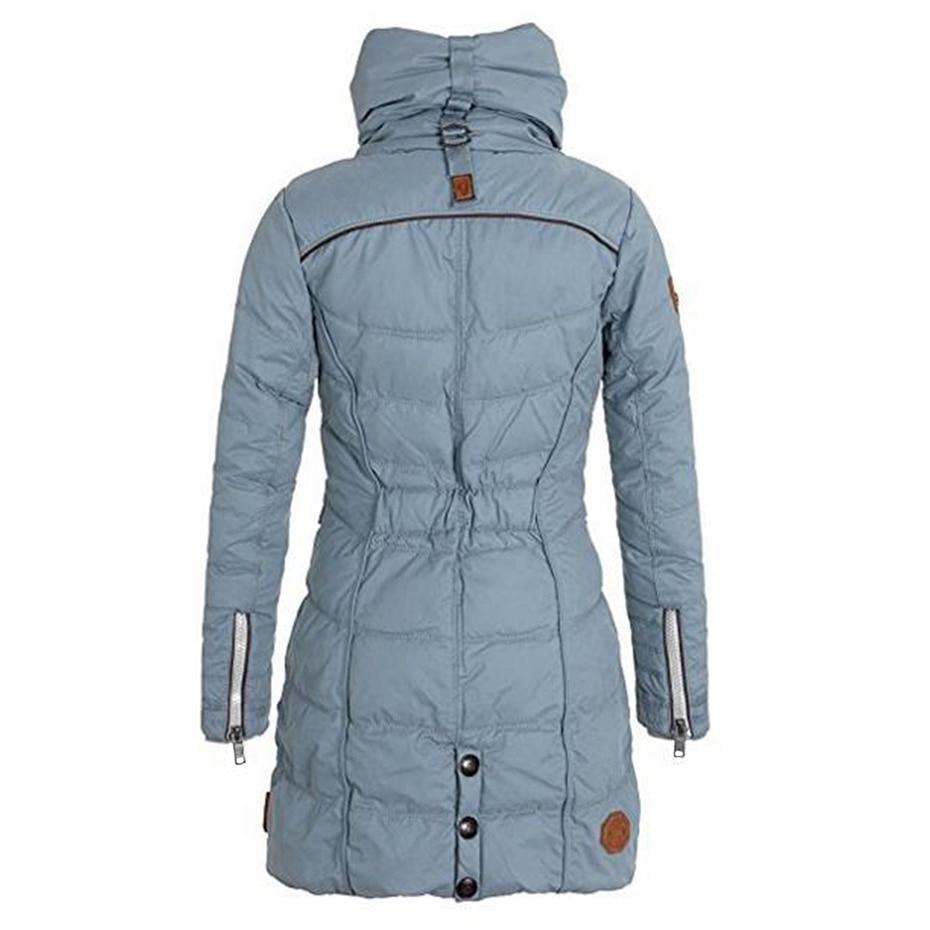 pretty nice a0eab ecb92 Frauen-Winter-Jacken-fester Rollkragen-Reißverschluss-Taschen-langer Parka  dicker Fleece-warmer Winter-Mantel-Damen-Frauen nehmen plus Größen-Parkas  ...