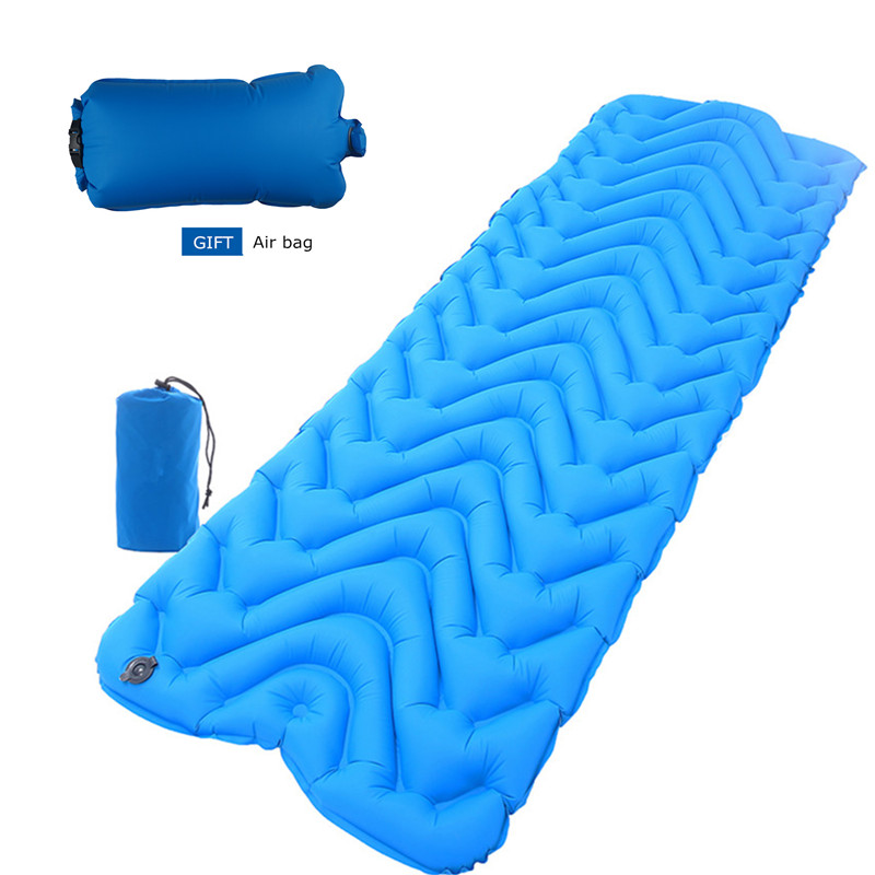 Outdoor Camping Mat Ultralight Waterproof Inflatable Mattress Tent Sleeping Mat Pad Folding Camp Air Bed Mattress