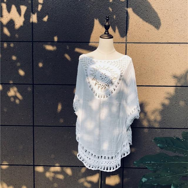 Women's Crochet Sun Cotton Beach Cover Up 3