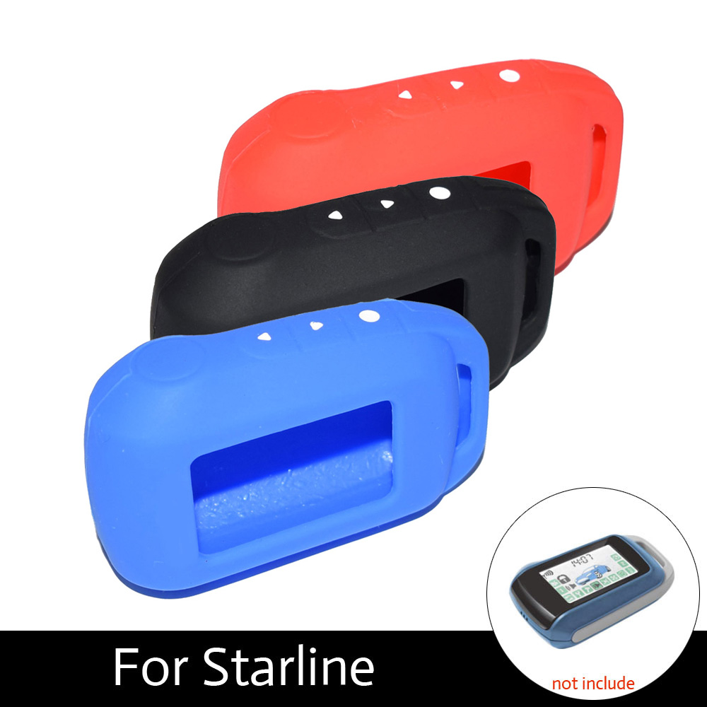 ATOBABI 6 Colors A94 V62 Keychain Silicone Case For Russian Car Alarm Starline A92 A62 A64 A95 Remote Starter LCD Transmitter цена
