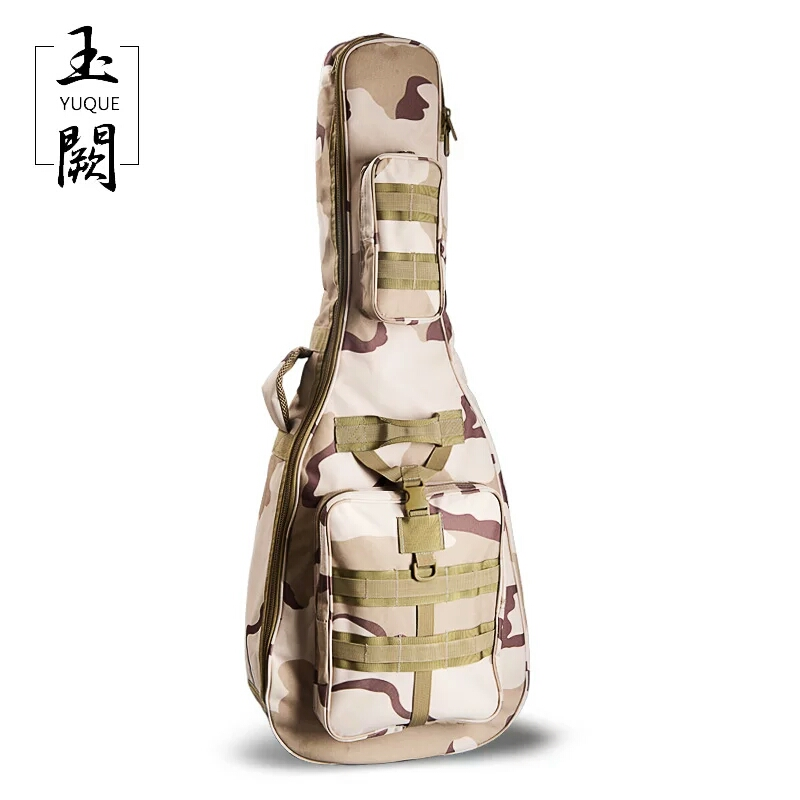 41 Waterproof Guitar Case Mid-Size Acoustic Guitar Case Classic Camouflage Guitar/ Portable acoustic guitar bag case mini micro battery powered portable guitar amp classic marshall guitar portable and lightweight