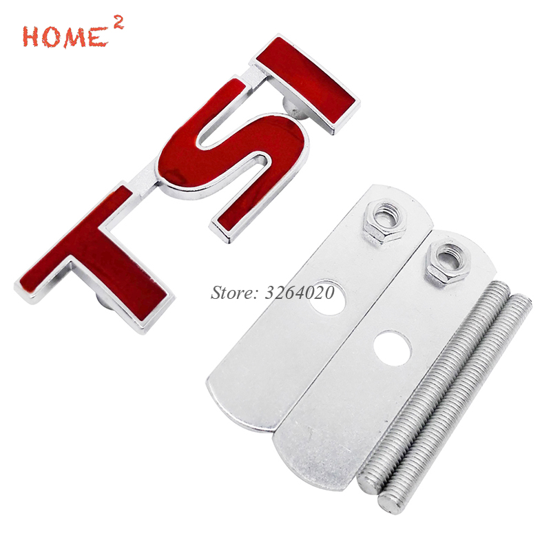 For TSI Logo 3D Car Styling Front Stickers Metal Grille Emblem Badge for VW Volkswagen T4 T5 Golf 4 5 6 7 Passat b6 Polo Tiguan soarhorse car styling 3d metal emblem car body side stickers fit for camaro corvette colorado licensed badge logo