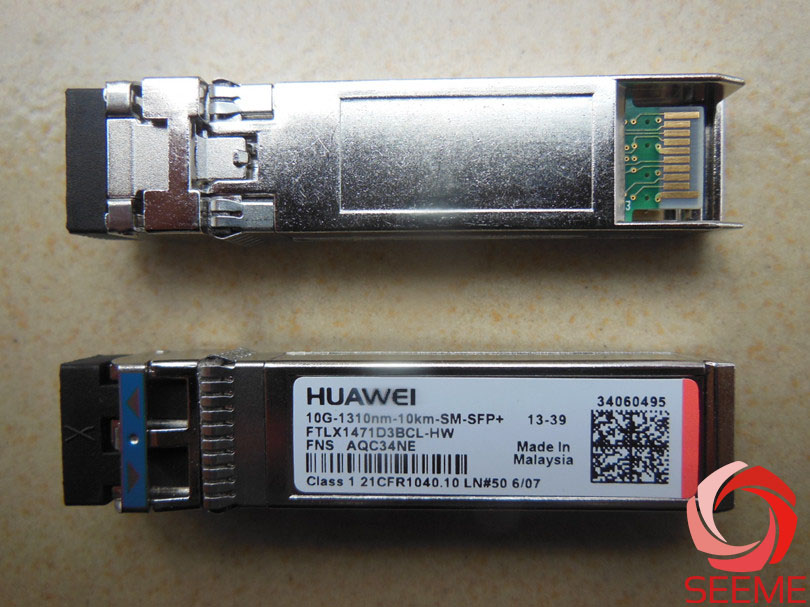 HW FTLX1471D3BCL Optical Transceiver SFP 10G Single-mode Module(1310nm,10km, LC)