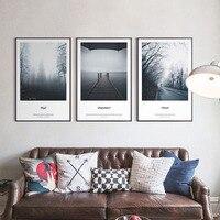 Forest Fog Highway Sea Waves Wooden Bridge Alpine Flower Bedroom Artistic Beauty Art Picture Canvas Posters