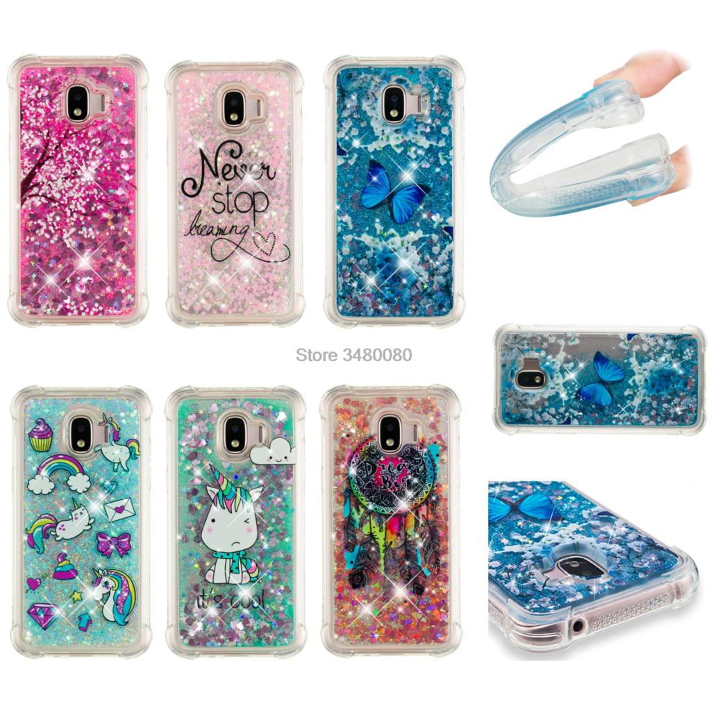 Cellphones & Telecommunications Phone Bags & Cases Glitter Stars Case For Samsung Galaxy J2 2018 J250 J250f/ds Sm-j250f/ds J2 Pro 2018 Dynamic Liquid Debris Quicksand Back Cover