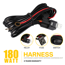 Auto Car Cable Wiring Harness Kit with 40A 12V ON/OFF Switch Relay Blade Fuse for 72W-300W 2 LED Light Bar Fog Lamp july king car fog lamp assembly with cover case for honda city 2014 on with switch and wiring harness 1 set free shipping