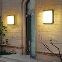 Thrisdar 12W Outdoor Garden Balcony LED Wall light Waterproof Hotel Villa Restuarant Building Gate Exterior Wall Sconce