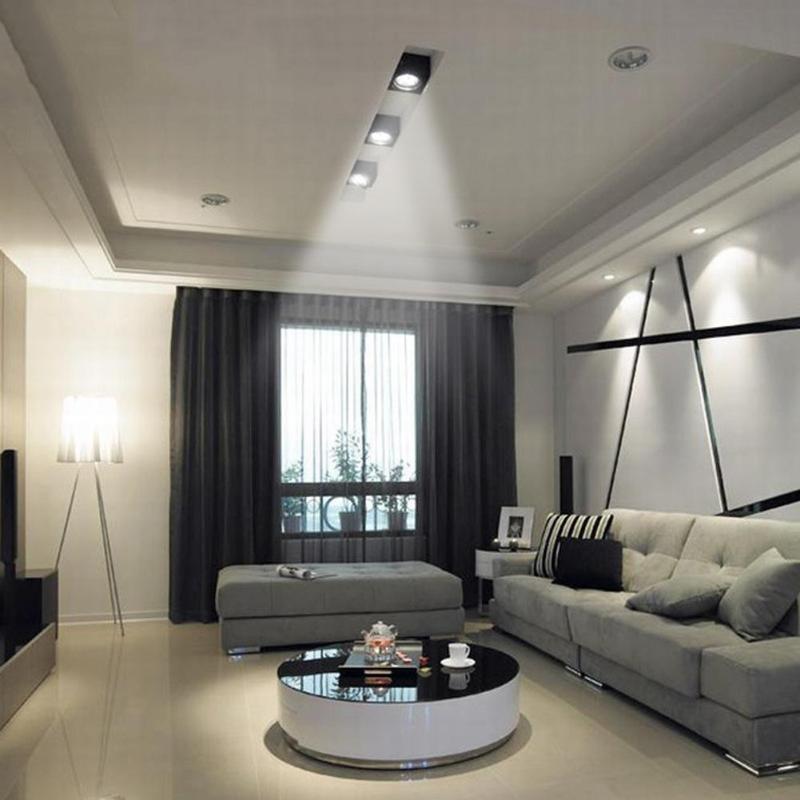 Gut Eisen AC 85 V 265 V Moderne Kurze Cube LED Wand Licht IP65 Wasserdicht  Indoor Outdoor Oberfläche Montiert Lampe Wohnzimmer Wand Licht   WLOG.ME