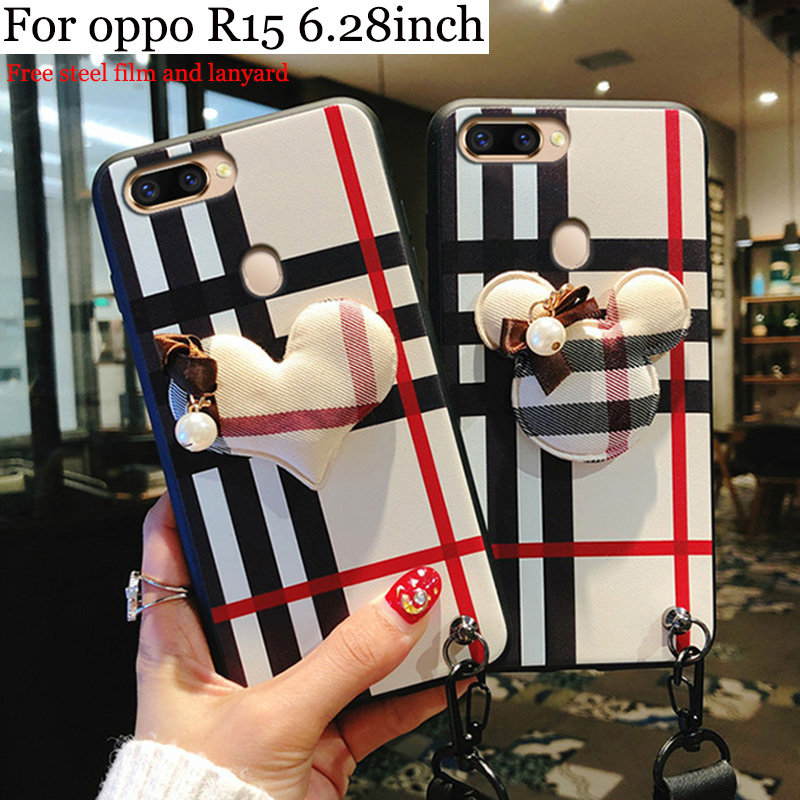 2PCS For OPPO R15 case 3D fashion cute cover For OPPO R 15 case soft back cover For OPPOR15 phone cases shell 6.28inch