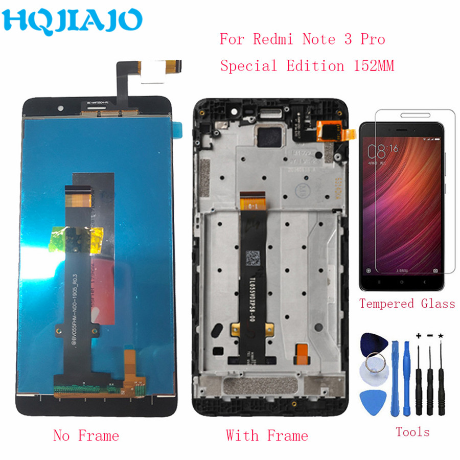 HQJIAJO For Xiaomi <font><b>Redmi</b></font> <font><b>Note</b></font> <font><b>3</b></font> <font><b>Pro</b></font> Special Edition <font><b>LCD</b></font> Display Screen Touch Digitizer Frame For <font><b>Redmi</b></font> <font><b>Note</b></font> <font><b>3</b></font> <font><b>Pro</b></font> SE 152mm LCDs image