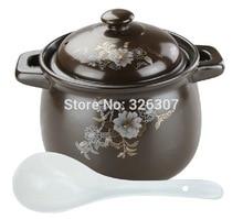 цена на Chinese 5.5L 5KGS Big ceramic sand pot cookware stock porridge earthen pot saucepan marmite stew soup tureen casserole