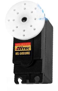1PC Metalen Hitec HS 5805MG Servo Grote Gear Digitale Hoge Koppel 24.7KG Steering Dubbele Kogellager Roer voor RC