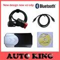 2015. Software r1 DVD PARA novo vci FERRAMENTA de diagnóstico do carro com bluetooth SCANNER COMO TCS cdp pro plus para carros caminhões Frete grátis