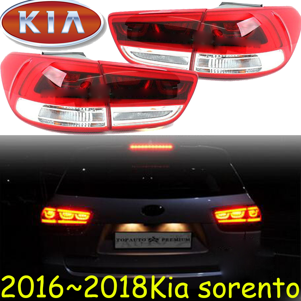 Sorento Taillight,2016~2018,Free ship!Sorento daytime light,K5, K4,Cerato,Sorento rear light,kx5;creta,cerato,Sorento tail light car styling sorento taillight 2009 2012 free ship 4pcs sorento fog light chrome sorento tail lamp car detector sorento