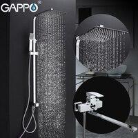 Gappo смеситель для душа ванна кран латунный Смеситель для душа нажмите Водопад Ванны Смесители настенное крепление тропический душ