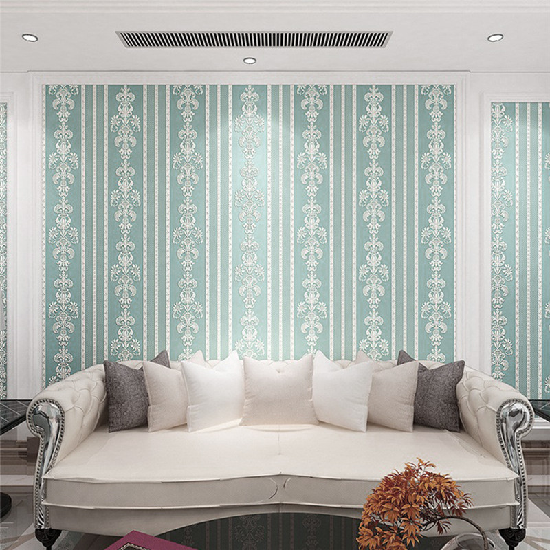 Panelling striped printed non woven fabric wallpaper wood - Wood effect wallpaper living room ...
