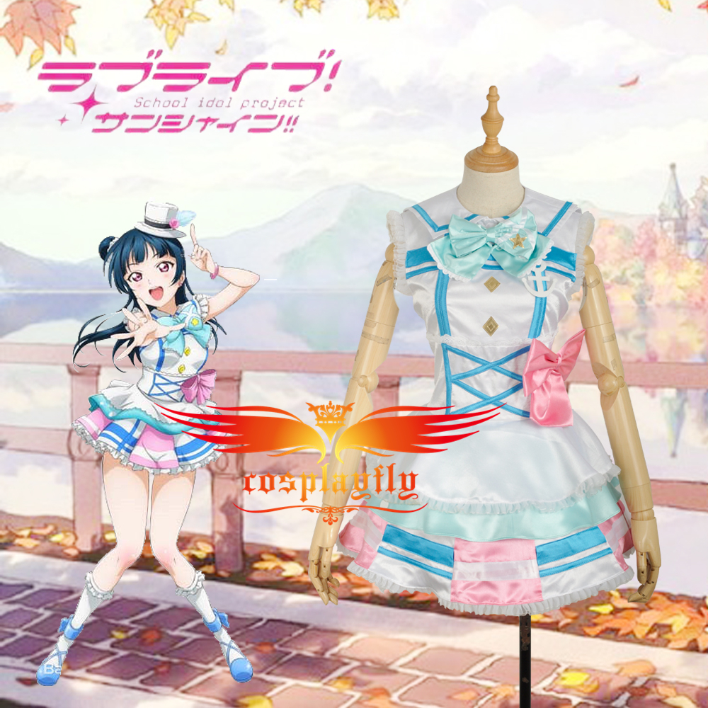 LoveLive!SunShine!! Aqours Tsushima Yoshiko Stage Dress Girls Outfit Cosplay Costume  Adult Women Outfit Clothing Dress