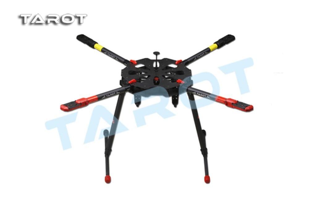 F11282 TAROT Drone X4 ALL Carbon Heli Kit with Retractable Landing Skid TL4X001 tarot rc 75 degree all metal cnc large scale electric retractable landing gear skid tripod load 30kg tarot tl4n004 diy drone