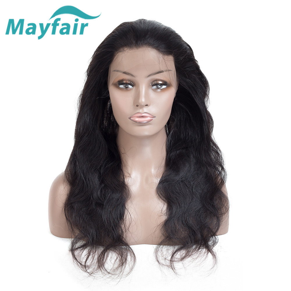 Malaysian Body Wave 360 Lace Frontal Closure 100% Hand Tied Human Hair 360 Frontal With Baby Hair 130% Density Mayfair Hair