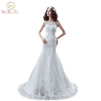 100% Real Images Wedding Dress Plus Size Bridal Gowns 2017 robe de mariage Cystal Beaded Tulle Bride Gowns In Stock