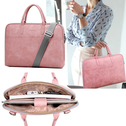 2018 Fashion new PU waterproof Scratch-resistant Laptop Shoulder Bag 13 14 15inch Notebook Shoulder Carry Case for MacBook Air