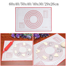 Ex-large Non-Stick Silicone Baking Mat For Cake Cookie Baking Liner Oven Scale Rolling Dough Mat Kitchen Accessories Four Sizes