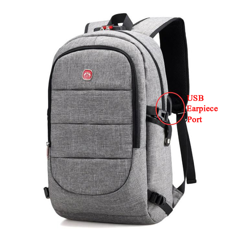 100pcs/lot Anti-theft Backpack Women Male USB Charging Backpack Men Notebook Laptop backpacks Teenager Schoolbag for Travel