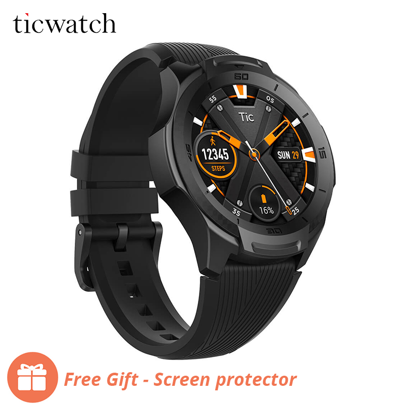 Ticwatch S2 Smart Watch Android Wear Bluetooth GPS Watch Waterproof 5 ATM 24hr Heart rate Monitor