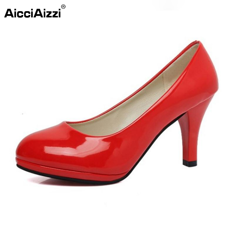 Women High Heel Shoes Pointed Toe Sexy Pumps Ankle Pearl Thin Heels Shoes Women Patent Leather Lady Office Footwear Size 34-42 jerry 1pc 8cm 15g crystal popper lure for bass best hard lures surface bait deep sea