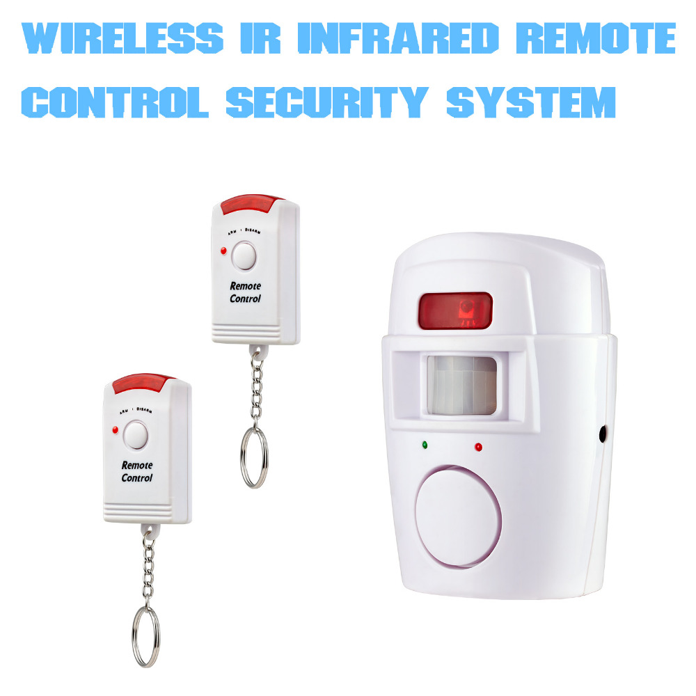 Home Alarm Security System Drahtlose PIR Infrarot Motion Sensor Detektor Mit 2 stücke Fernbedienungen Tür Fenster Anti-Diebstahl