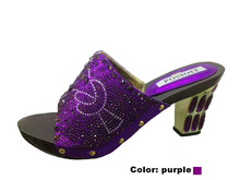 purple Special Design Wedding High Heel With Brand Square Heel African Elegant Women's Sandals For Party Lowest Price!MD1-33