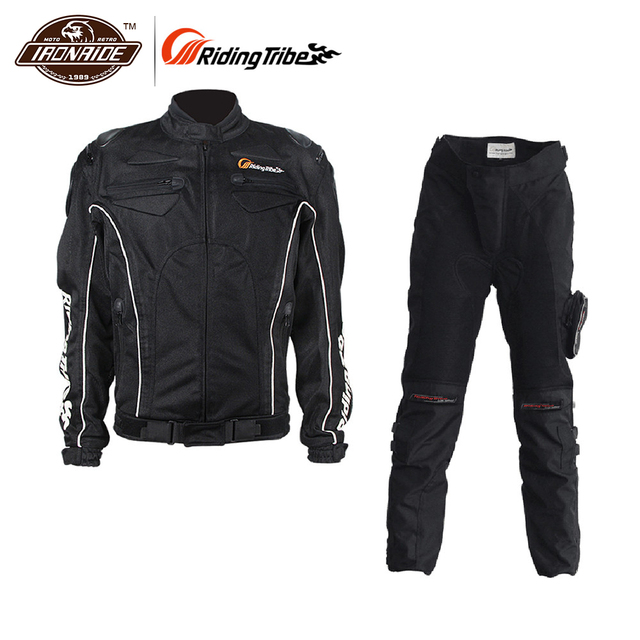 0663cca7c9a US $113.73 49% OFF|Riding Tribe Summer Breathable Motorcycle Kits  Protective Jacket + Pants Motorcycle Riding Suits Sets Motor Jacket &  Pants-in ...